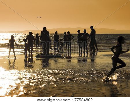 people on the beach