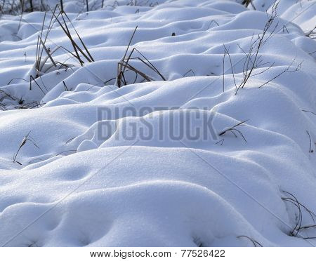 Snowdrifts After Snowfall In Morning