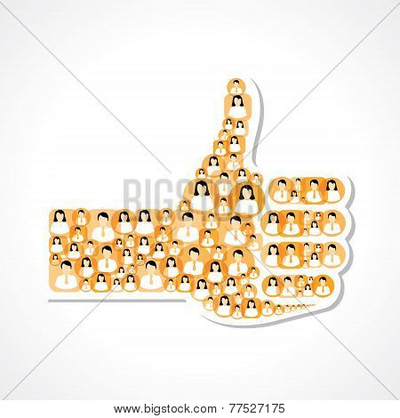 Like symbol made with male and female icons stock vector
