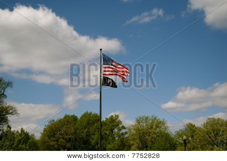 POW MIA American Flags