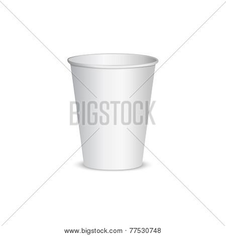 Vector Open blank paper cup for coffee.
