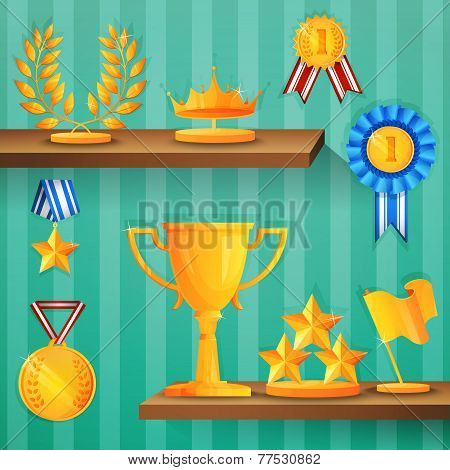 Award shelves background