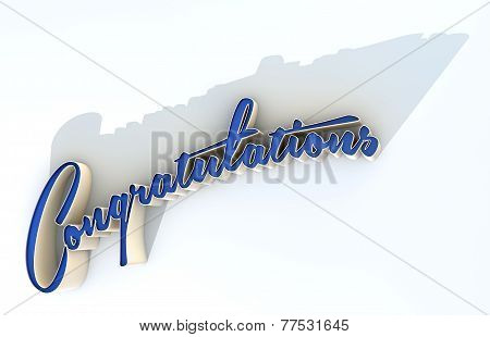 Congratulations Extruded Text