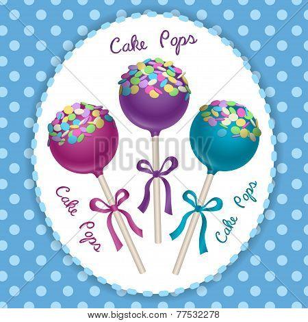 Cake Pops Vector