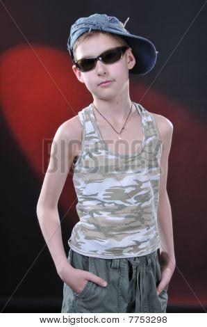 Portrait Of Is Ten Years Old Boy