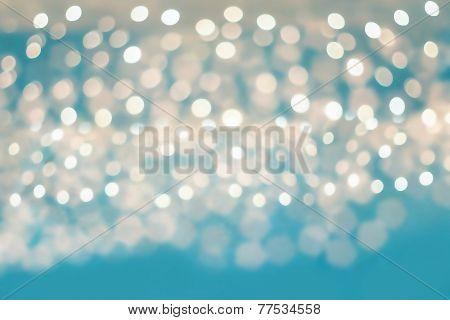 Blurred Lights On Blue Background