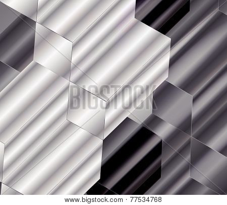 Ornate Background Design Black