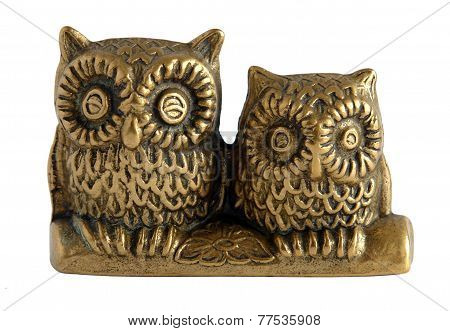 Bronze Figurine Two Owls