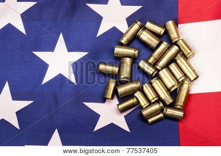 Shells On The Us Flag.