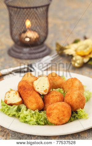 Celebratory Potato Balls With Herbs