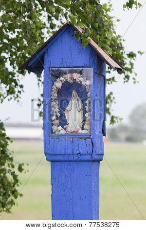 Rural Wooden Wayside Shrine