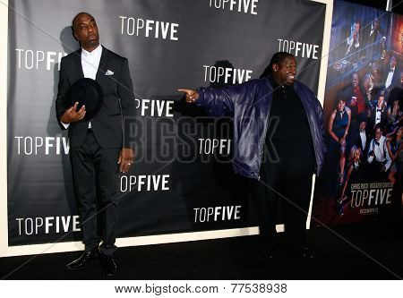 NEW YORK-DEC 3: Comedian/actor J.B. Smoove (L) and Bruce Bruce attend the