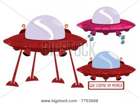 Ufo Illustration In Vector