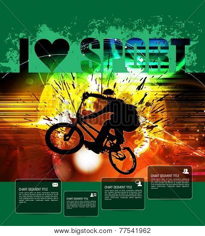 Poster of BMX. Sport vector illustration