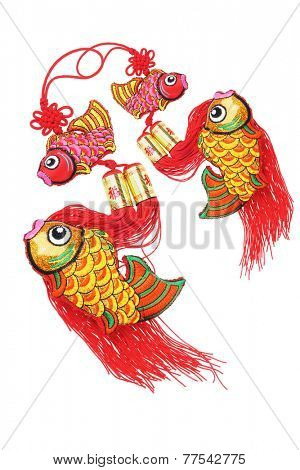 Chinese New Year Auspicious Fish Ornaments - Abundant Surplus