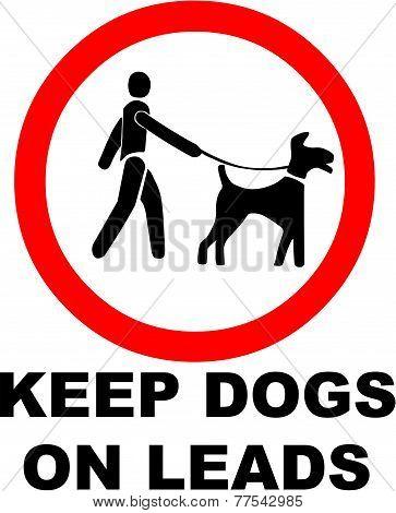 Keep Dogs on a Lead Symbol