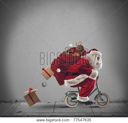 Santaclaus On The Bicycle