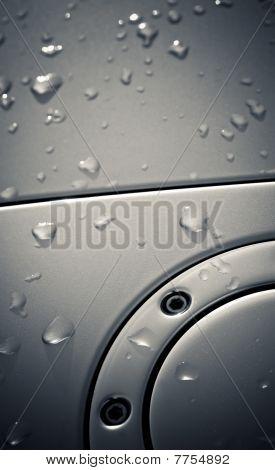 Raindrops On Metal
