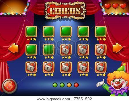A circus computer game