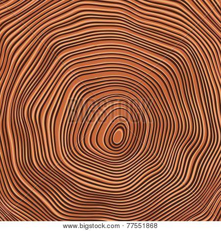 Tree rings background illustration. Raster version