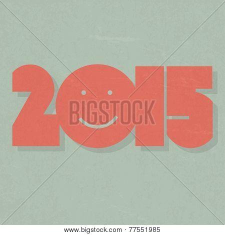 Happy New Year 2015 Design. Raster version
