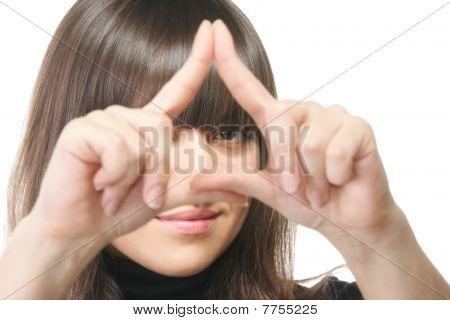 Gaze Through Triangle Frame