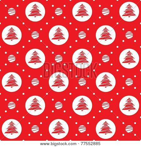 Seamless pattern. Simple ornament with Christmas trees.