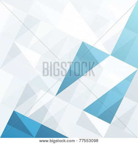 Abstract Triangles Background. Raster version