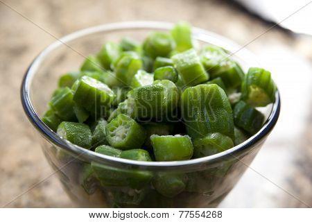 Chopped Okra