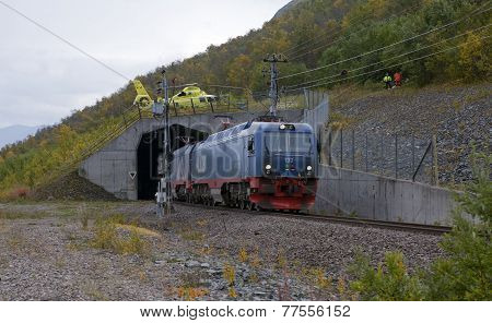 IRON ORE LINE, SWEDEN ON SEPTEMBER 11