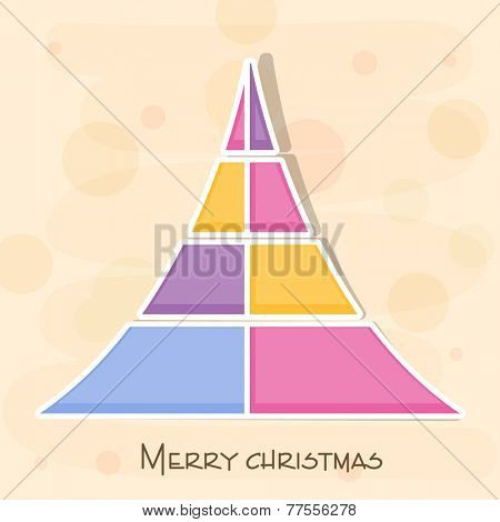 Colorful and stylish X-mas tree for Merry Christmas celebrations.
