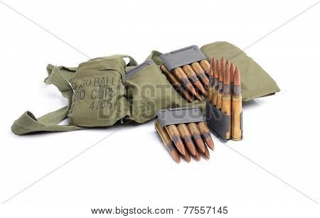 Clips,  Ammunition And Bandolier.