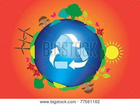 Save Planet Earth Ecological Concept
