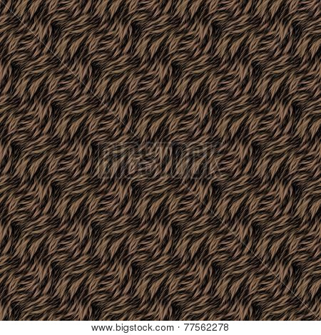 Seamless Texture Of Brown Fur With Highlights