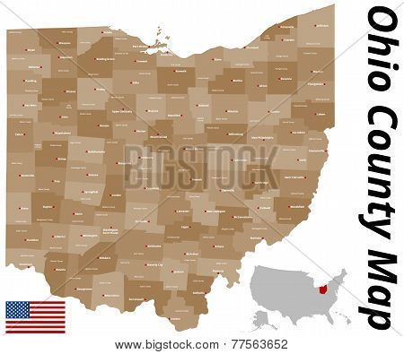 Ohio County Map