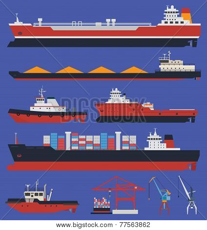 Cargo Ships Infographic