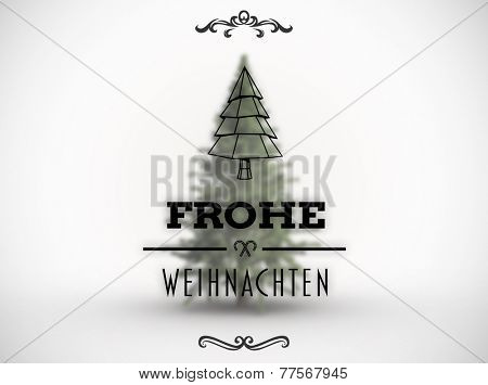 Frohe weihnachten banner against white background with vignette