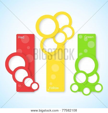 Set Of Banners With Circles. Vector Illustration
