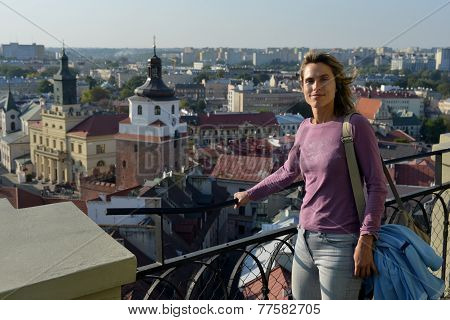 Tourist In Lublin (poland)