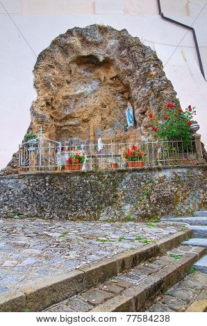 Madonna di Lourdes Grotto. Moliterno. Basilicata. Italy.