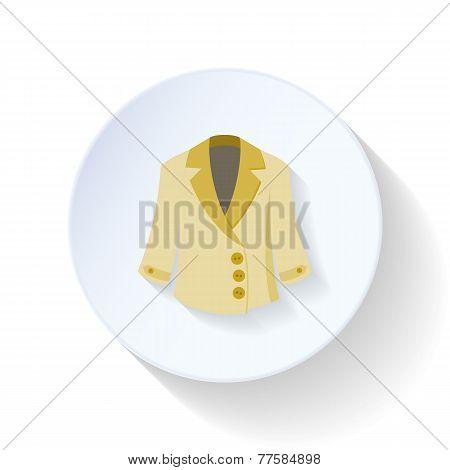 Overcoat Flat Icon