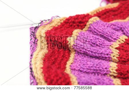 Color Handmade Needle Knitting