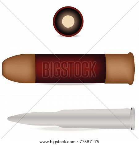 Bullet And Shell Isolated