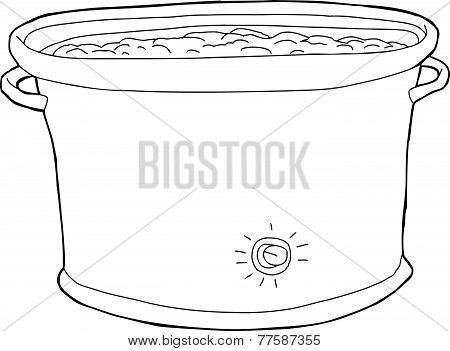 Full Crock Pot Outline