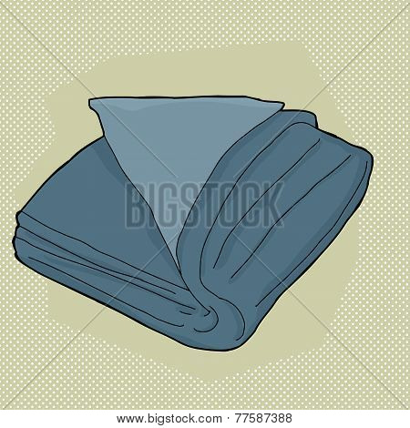 Blue Folded Towel