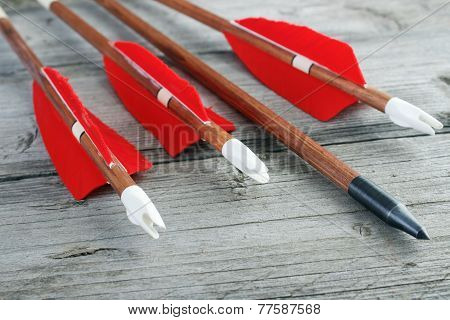 Wooden archery arrows