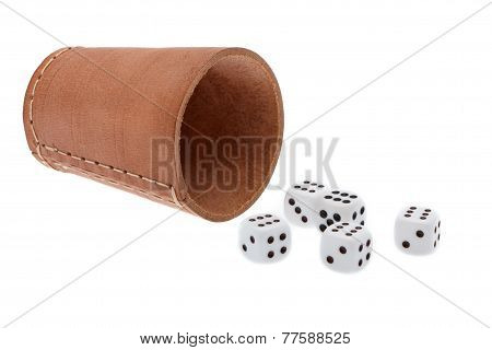 Dices With Dice Cup