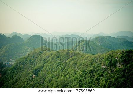 Mountains of Halong bay and Catba