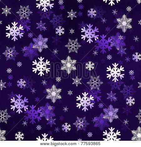 Dark Purple Snowflakes