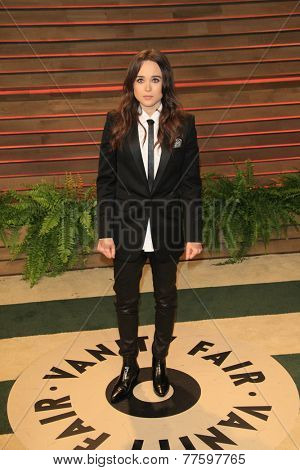 LOS ANGELES - MAR 2:  Ellen Page at the 2014 Vanity Fair Oscar Party at the Sunset Boulevard on March 2, 2014 in West Hollywood, CA